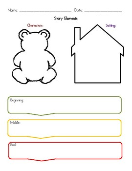 Goldilocks and the Three Bears Guided Reading Packet