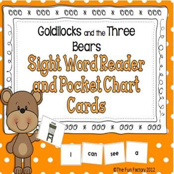 Sight Word Reader and Pocket Chart Cards ~ Goldilocks and the Three Bears