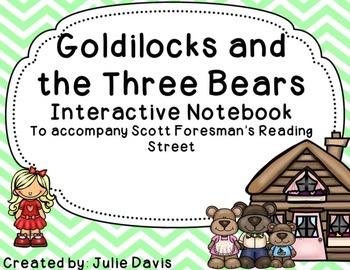 Goldilocks and the Three Bears Interactive Notebook Journal