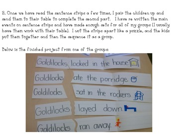 Goldilocks and the Three Bears- Interactive Story Comprehension Activities