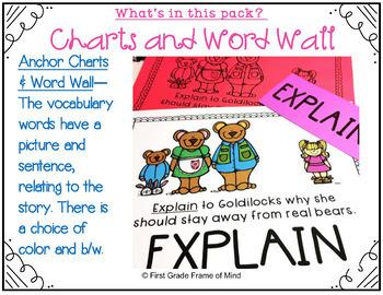 Academic Vocabulary Goldilocks and the Three Bears Bundle