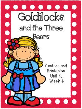 Goldilocks and the Three Bears, Kindergarten, Centers and