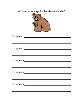 Goldilocks and the Three Bears Lesson Plan
