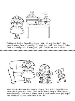 Goldilocks and the Three Bears Literacy Activities