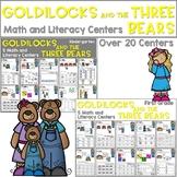 Goldilocks and the Three Bears   Literacy Centers and Math