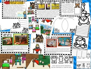 Goldilocks and the Three Bears Literacy Extensions