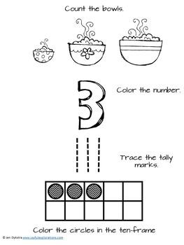 Goldilocks and the Three Bears Literacy and Math Bundle