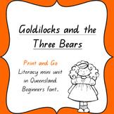 Goldilocks and the Three Bears Literacy unit.