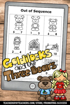 Goldilocks And The Three Bears Math Emergency Sub Plans