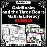 Goldilocks and the Three Bears Activities BUNDLE, Emergent Reader Book