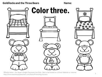 Goldilocks And The Three Bears Coloring Sheet #FairyTale ... | 263x350