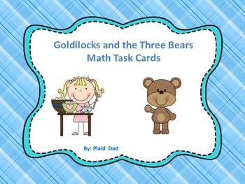 Goldilocks and the Three Bears Math Task Cards