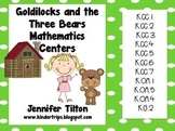 Goldilocks and the Three Bears Mathematics Centers - Common Core