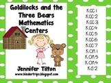 Goldilocks and the Three Bears Mathematics Centers - Common Core