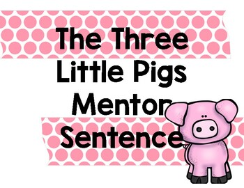 Goldilocks and the Three Bears Mentor Sentence