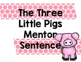 The Three Pigs Mentor Sentence