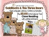 Goldilocks and the Three Bears Literacy & BEARS Informatio
