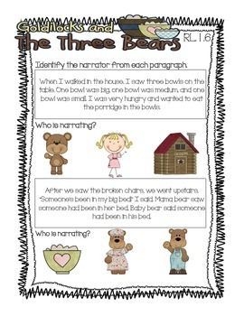 Goldilocks and the Three Bears Pack {1st Grade Common Core Aligned}