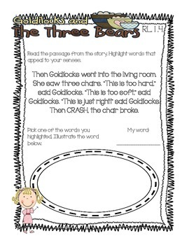 Goldilocks and the Three Bears Pack {1st Grade Common Core Aligned}