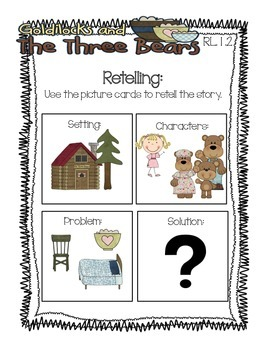 Goldilocks and the Three Bears Pack {1st Grade Common Core