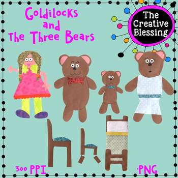 Goldilocks and the Three Bears Paper Clipart