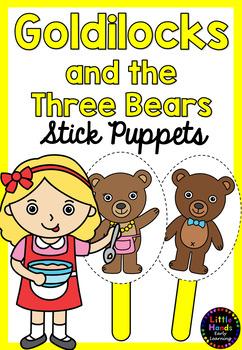 Goldilocks and the Three Bears Puppets