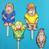 Goldilocks and the Three Bears Puppets - FULL COLOR