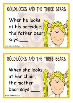 Goldilocks and the Three Bears Reading Prompts