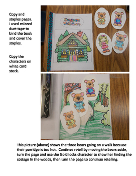 Goldilocks and the Three Bears - Retell Story Book with Characters