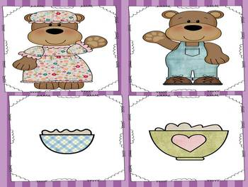 Goldilocks and the Three Bears Retelling Pictures and Story Cards