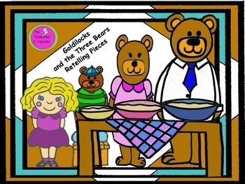 Goldilocks and the Three Bears Retelling Pieces