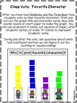 Goldilocks and the Three Bears Retelling, Writing, and Lesson Plans