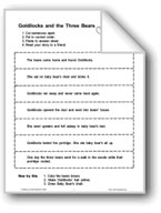Goldilocks and the Three Bears (Sequencing)