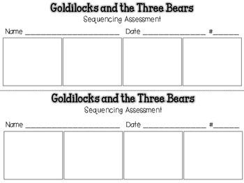 Goldilocks and the Three Bears {Sequencing Assessment} Rea