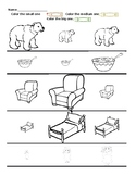 Goldilocks and the Three Bears Size Comparison