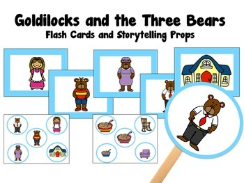 Goldilocks and the Three Bears Storytelling Props