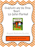 Goldilocks and the Three Bears Student Response Book