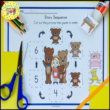 Goldilocks and the Three Bears Fairy Tales Worksheets Activities Games and More