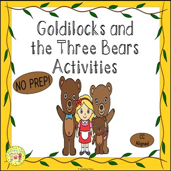Goldilocks and the Three Bears Fairy Tales Worksheets Acti