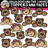 Goldilocks and the Three Bears Toppers and Faces Clipart {