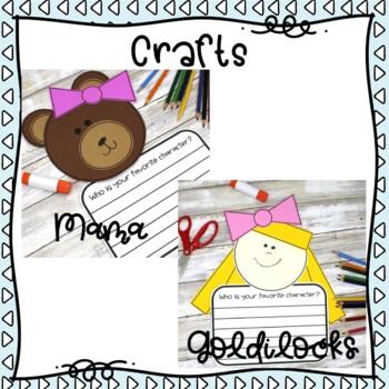 Goldilocks and the Three Bears Activities