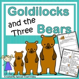 Fairy Tales Unit Goldilocks and the Three Bears