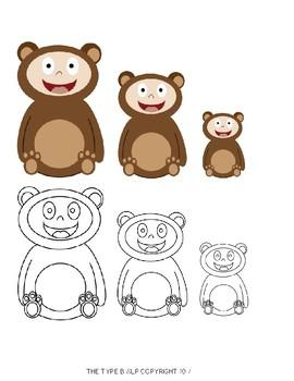 Goldilocks and the Three Bears Visual Freebie