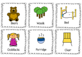 Goldilocks and the Three Bears Write the Room Kindergarten Activity