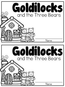 Goldilocks and the Three Bears Writing Book