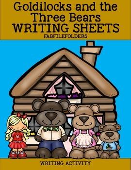 Goldilocks and the Three Bears Writing Sheets