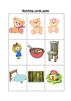 Goldilocks and the Three Bears activity pack