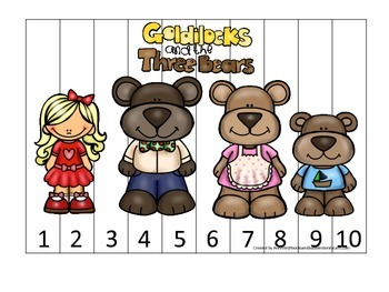 Goldilocks and the Three Bears themed Number Sequence Puzz