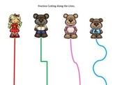 Goldilocks and the Three Bears themed Scissor Cutting Prac