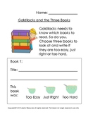 Goldilocks and the Three Books Fairytale Book Report